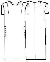 Как кроит прямое платье