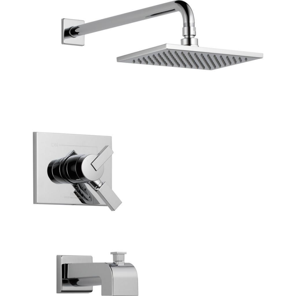 Trim your bathroom with this stylish tub and shower faucet that ...