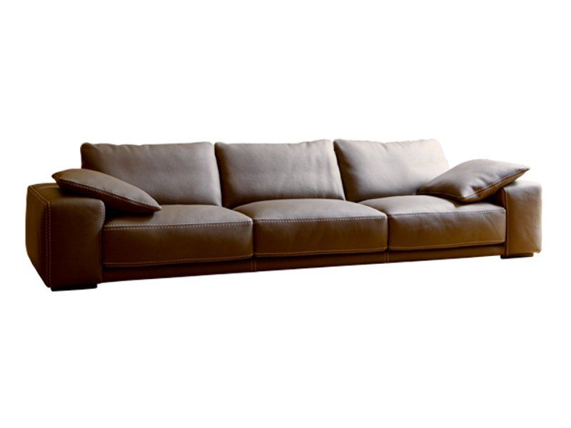 Upholstered Leather Sofa PIAZZA   ROCHE BOBOIS