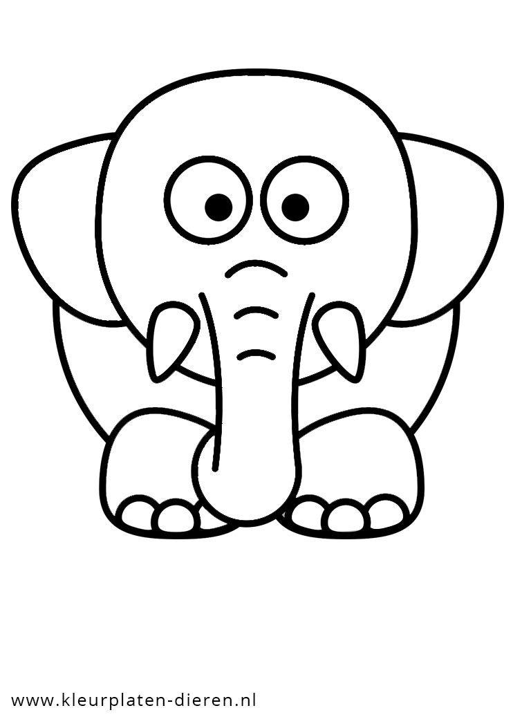 kleurplaten nl kleurplaat olifant kleurplaten
