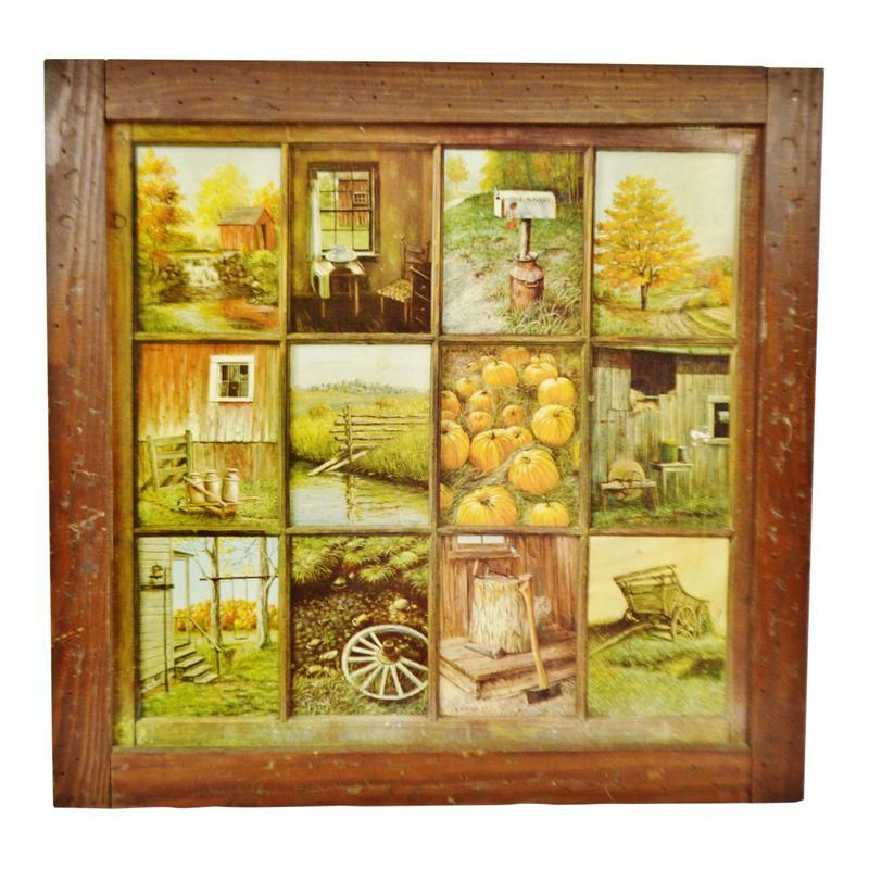 This Hung In My Kitchen In The 80 S Vintage Home Interior Homco 12 Panel Rustic Window Pane Picture Print Vintage House Home Interiors And Gifts Rustic Window