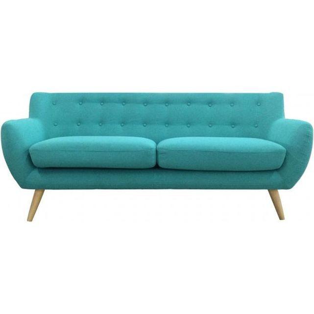 Canapé 3 places en tissu ALGANO