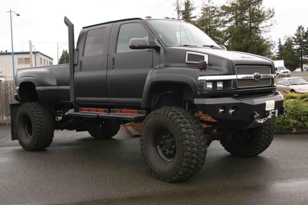 Chevy Kodiak Lifted With Images Cool Trucks Big Trucks