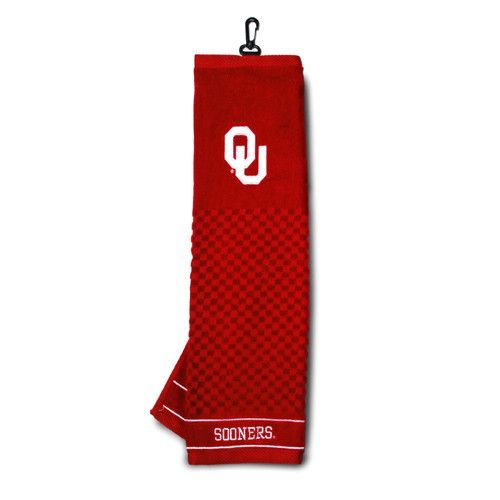 Oklahoma Sooners NCAA Embroidered Tri-Fold Towel
