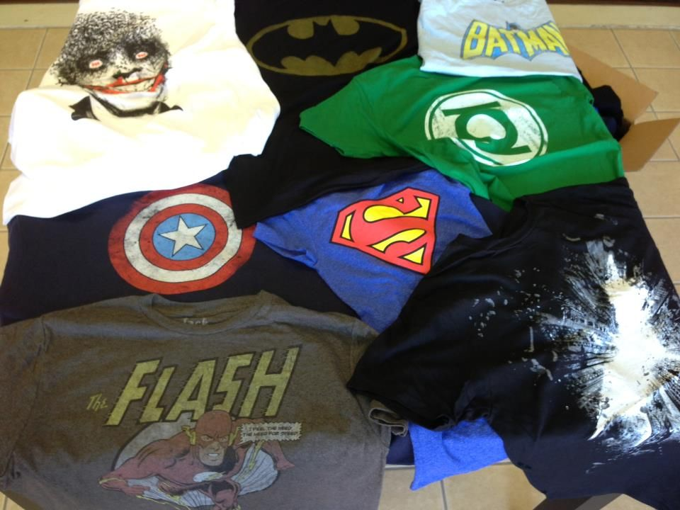 Marvel and DC Comics t-shirt in stock !!!