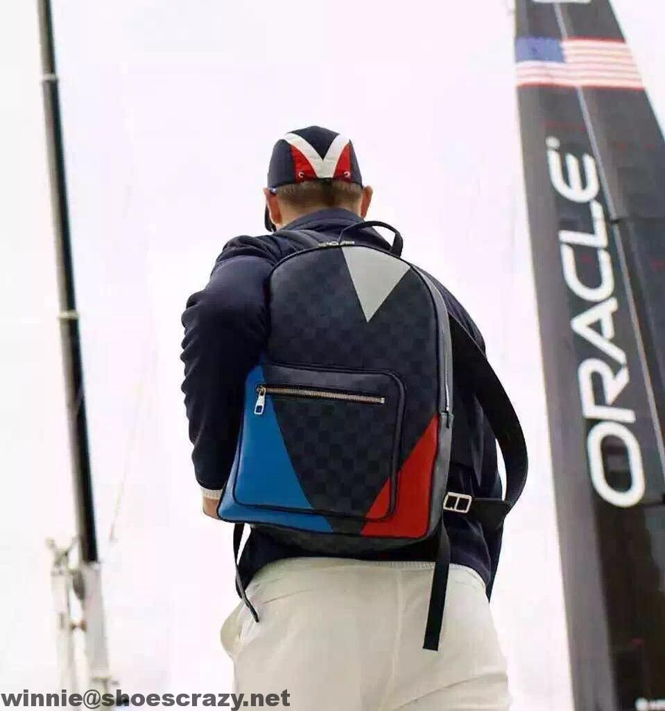 a9753e550f21 Louis Vuitton America s Cup Damier Cobalt Regatta Josh Backpack Bag N41612  2016