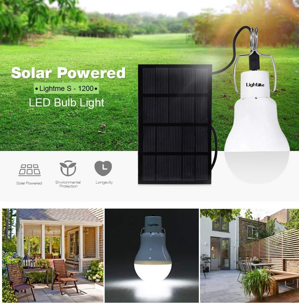 Bisozer Solar Panel Lighting Kit Dusk To Dawn Solar Powered Led