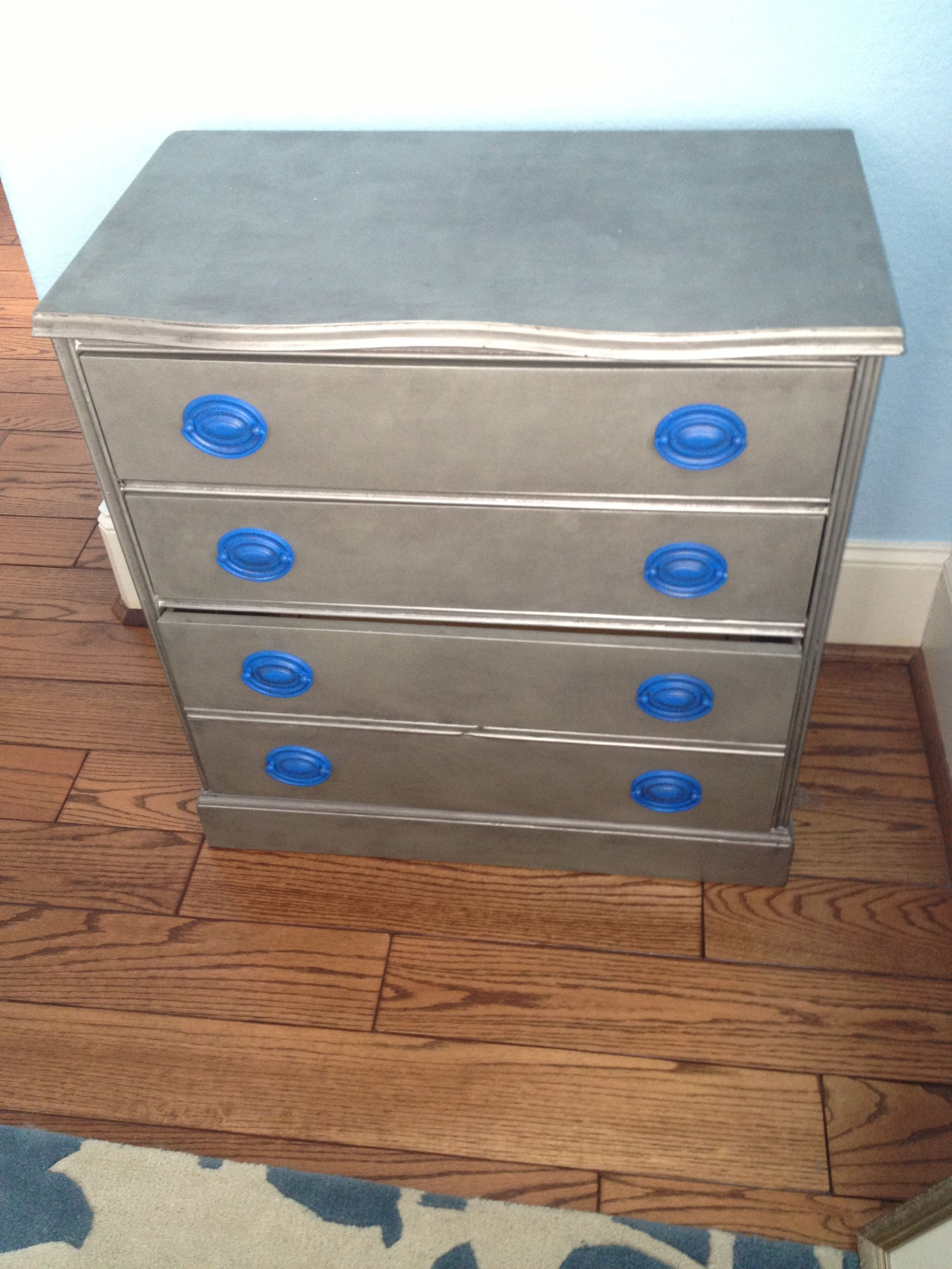 Hallway furniture gumtree  Chair I bought off of Craigus list Painted the wood silver and the