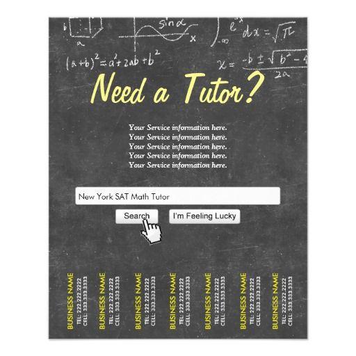 Professional Chalkboard Search Bar Math Tutor Flyer Math Tutor And