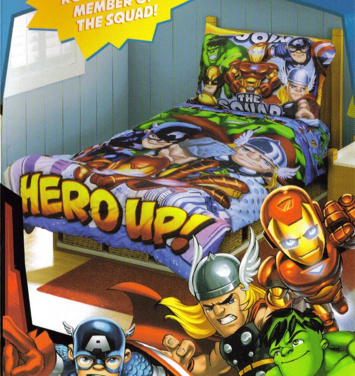 super hero squad toddler bedding