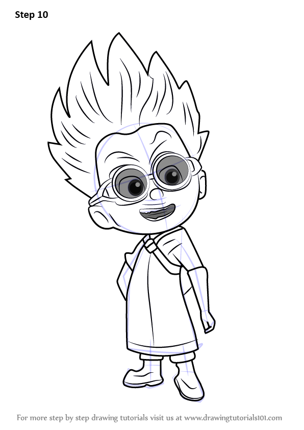 How to Draw Romeo from PJ Masks - DrawingTutorials101.com ...