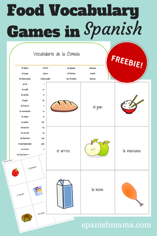 Spanish Food Vocabulary Games Learning Spanish