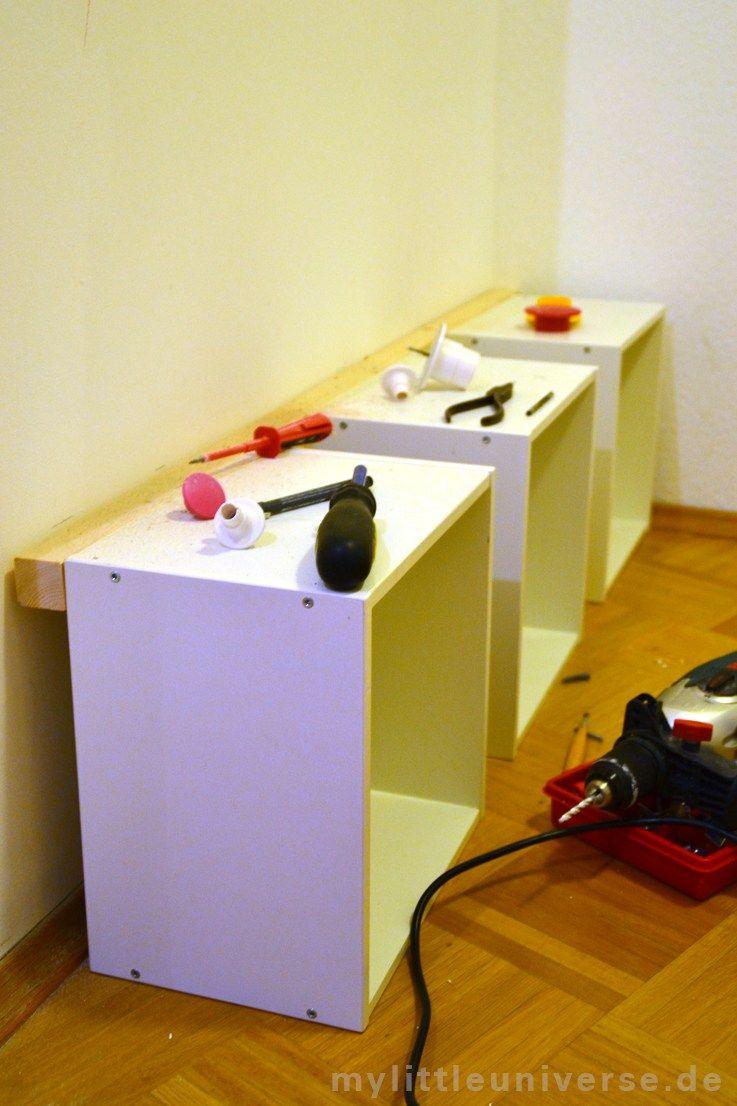 kindergarderobe diy ikea hack bad in 2019 garderobe kindergarderobe und ikea. Black Bedroom Furniture Sets. Home Design Ideas