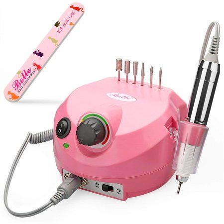 30000RPM Electric Acrylic Nail Drill Manicure Pedicure Kit Pedal ...