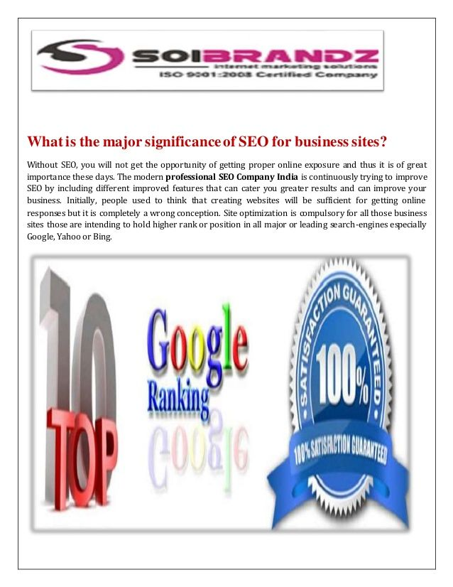 What is the major significance of SEO for business sites?
