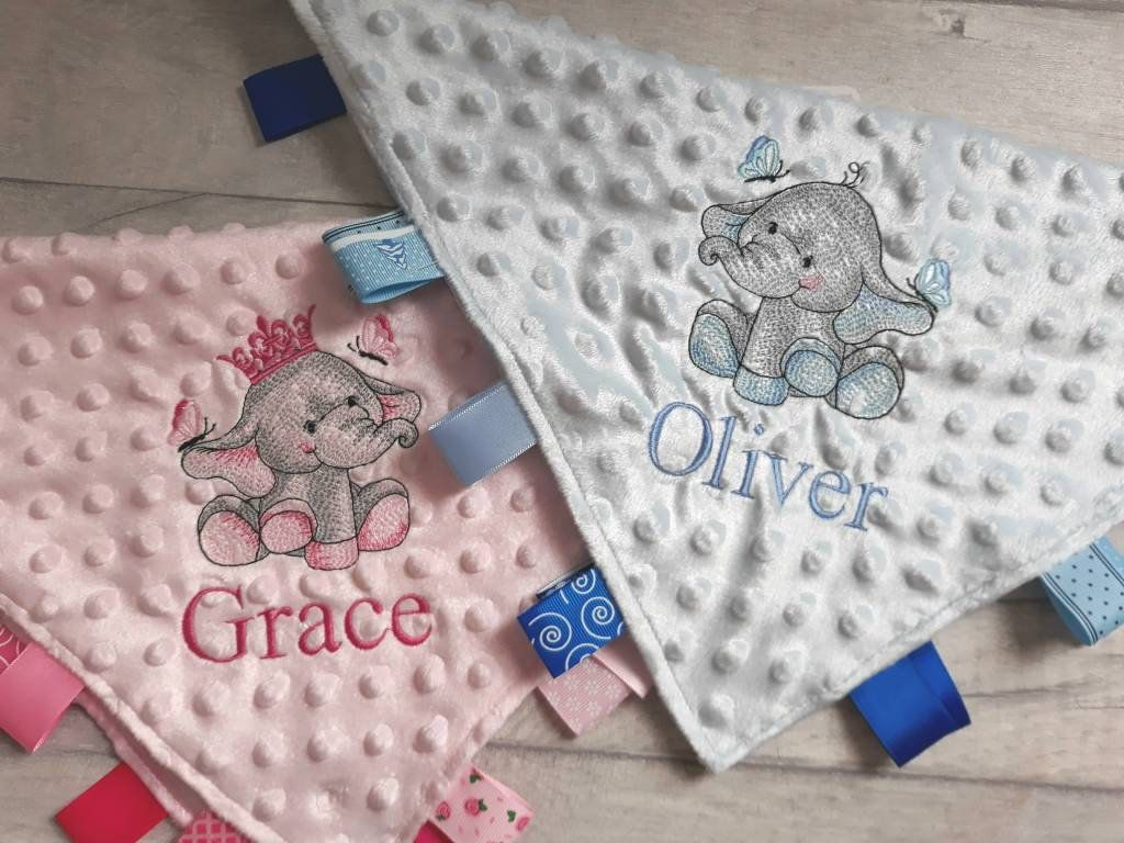 Gift for a Baby Boy baby girl Personalised Baby Blanket taggie Blanket Present