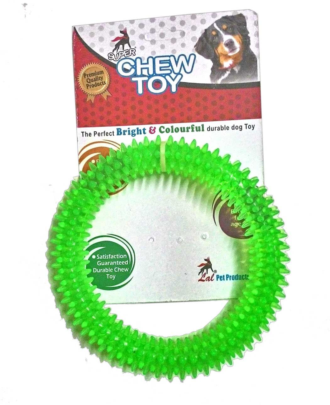 Dog Toy Chew Flavoured Spike Dental Play Ring for Healthy Gums ... | Healthy Chew Toys For Dogs