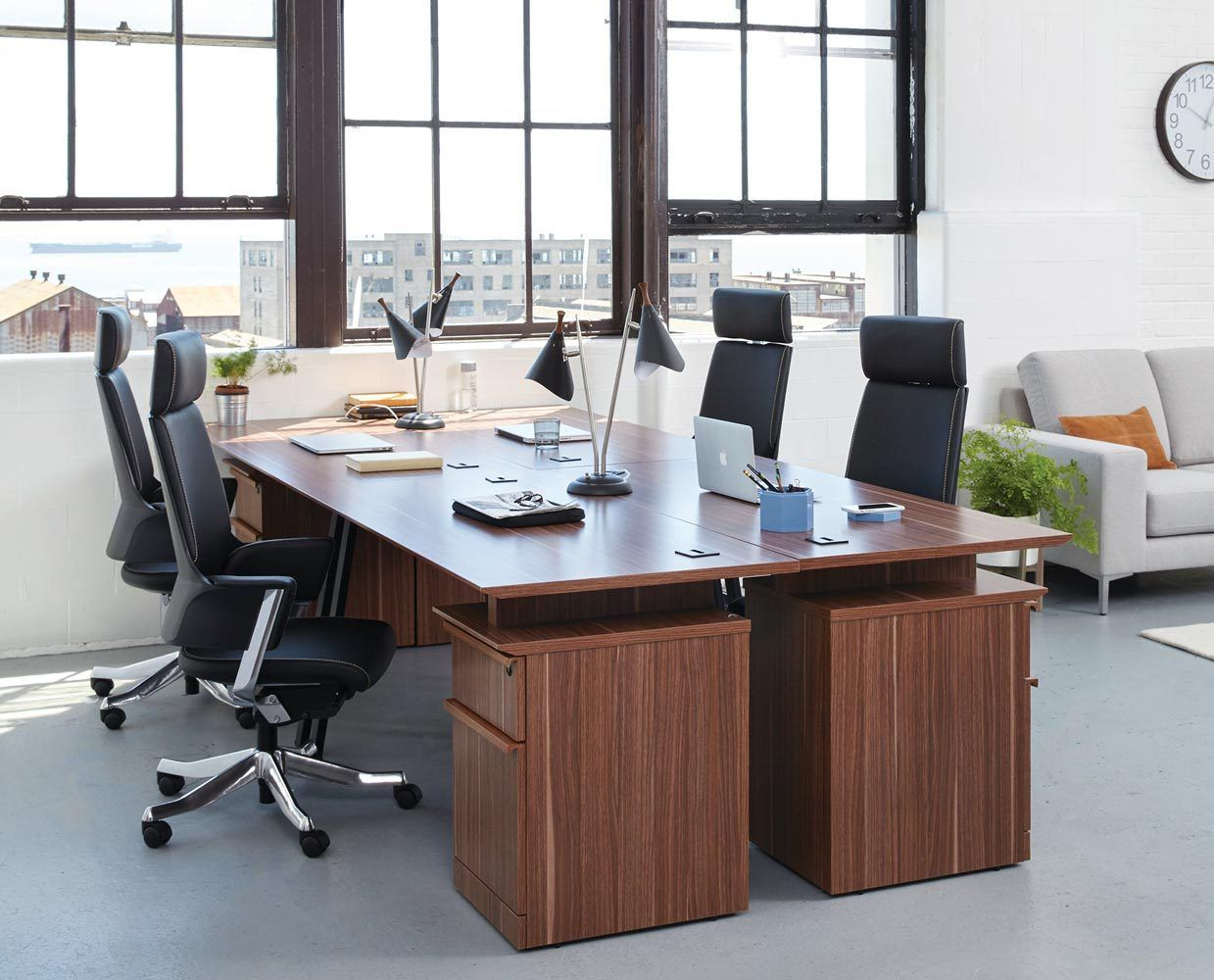 Affordable modern office desks chairs