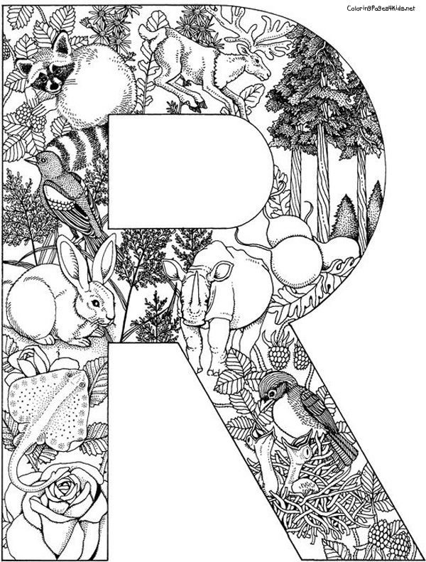 Print and Color | värityskuvia | Coloring letters, Alphabet