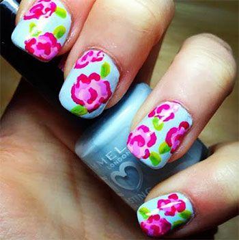 Simple & Easy Flower Nail Art Designs & Ideas 2013/ 2014 | Pamper ...