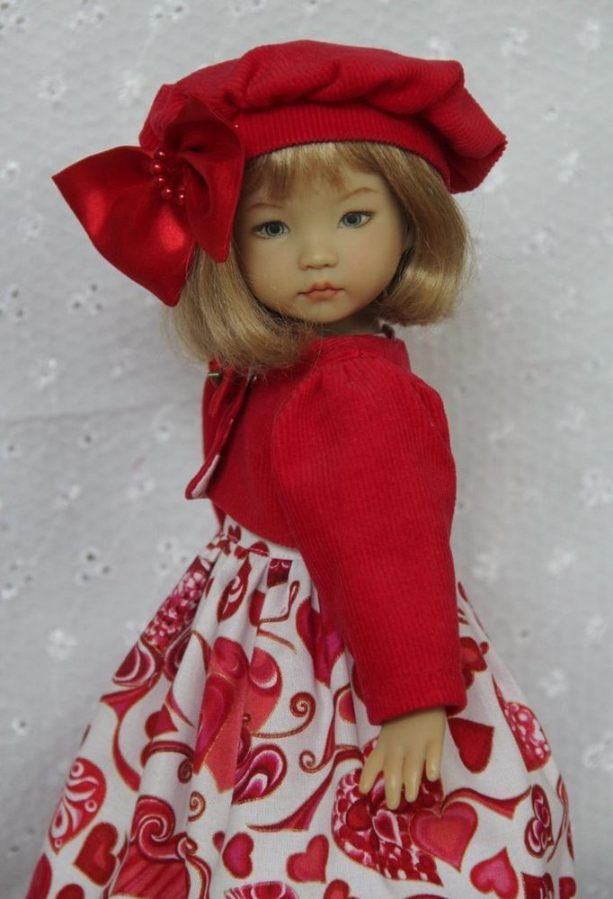 "Sweet Hearts ~ OOAK Outfit for Effner 13"" Little Darling ~ by Glorias Garden"