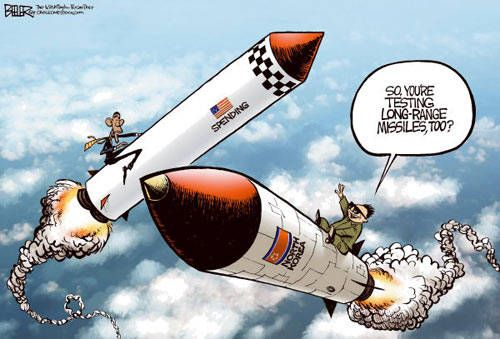 Image result for US missiles CARTOON