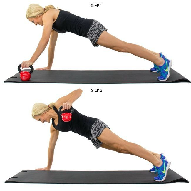 Image result for 1. Renegade Kettlebell Row