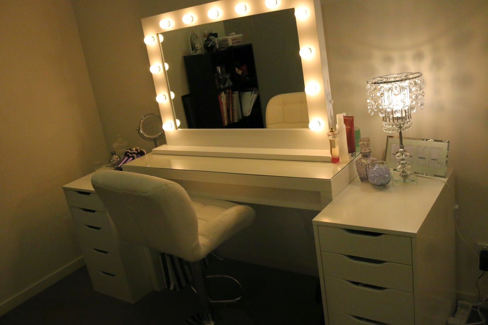 Ikea Vanity Mirror Lights On Both Sides Of A Mirror With Images