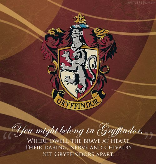 "Which Hogwarts How Do You Belong To: ""You Might Belong In Gryffindor..."""