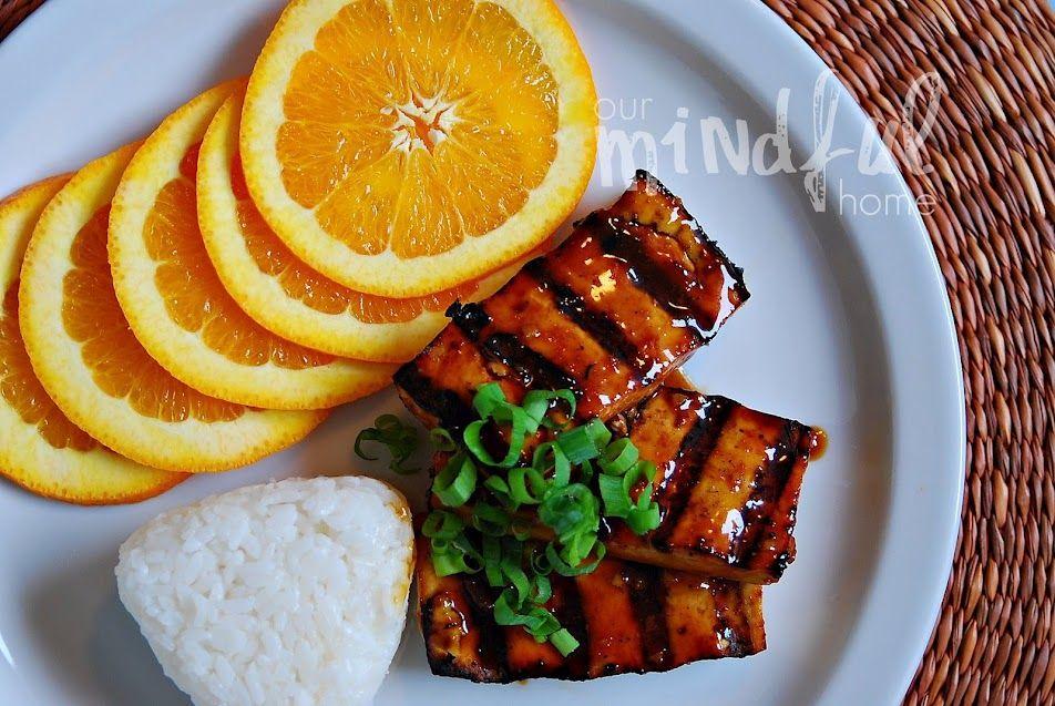 Grilled Tofu with Orange Ginger Glaze