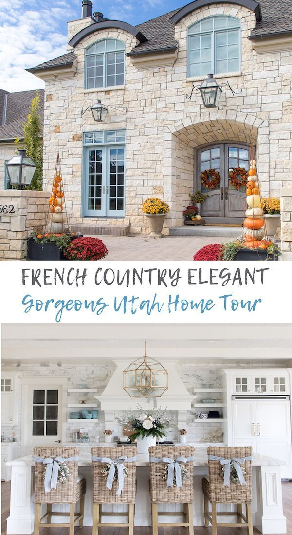 Rustic Home Interior A gorgeous Utah home tour that is one of the prettiest French country homes I've seen! It's grand in scale, yet decorated for real life family and friends. #utahhomes #beautifulhomes #elganthomedesign #frenchcountryhome #frenchcountrydesign #homedesign #homeideas #designideas #bluedecor#beautifulhomes #bluedecor #country #decorated #designideas #elganthomedesign #family #french #frenchcountrydesign #frenchcountryhome #friends #gorgeous #grand #home #homedesign #homeideas #ho