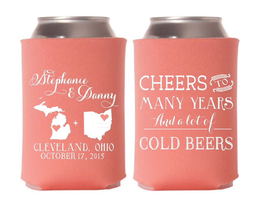 Cheers to Many Years and Cold Beers, Couples Shower Gift, State to ...