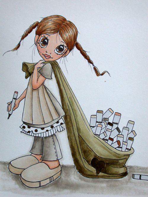 hallo zusammen  cute art art dolls copic coloring