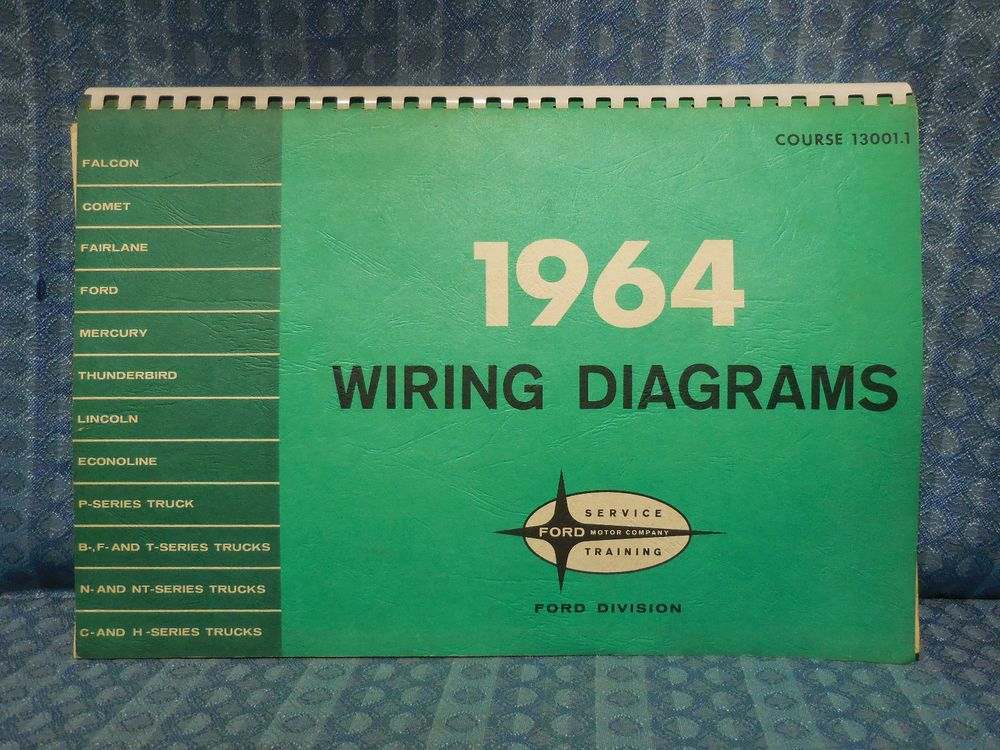 1964 Ford Lincoln Mercury Truck Original OEM Wiring Diagrams Manual
