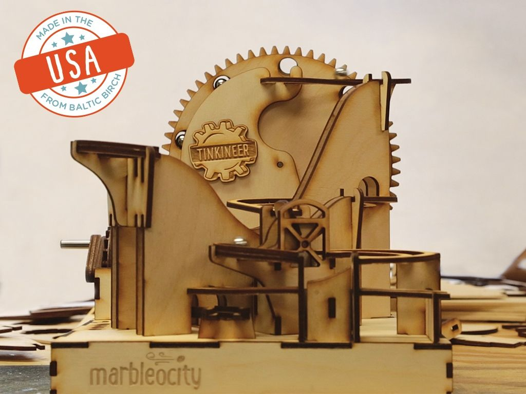 Marbleocity Marble Machine Kit A Stem Maker Experience Project Video Thumbnail Marble Machine Engineering Toys Marble Games