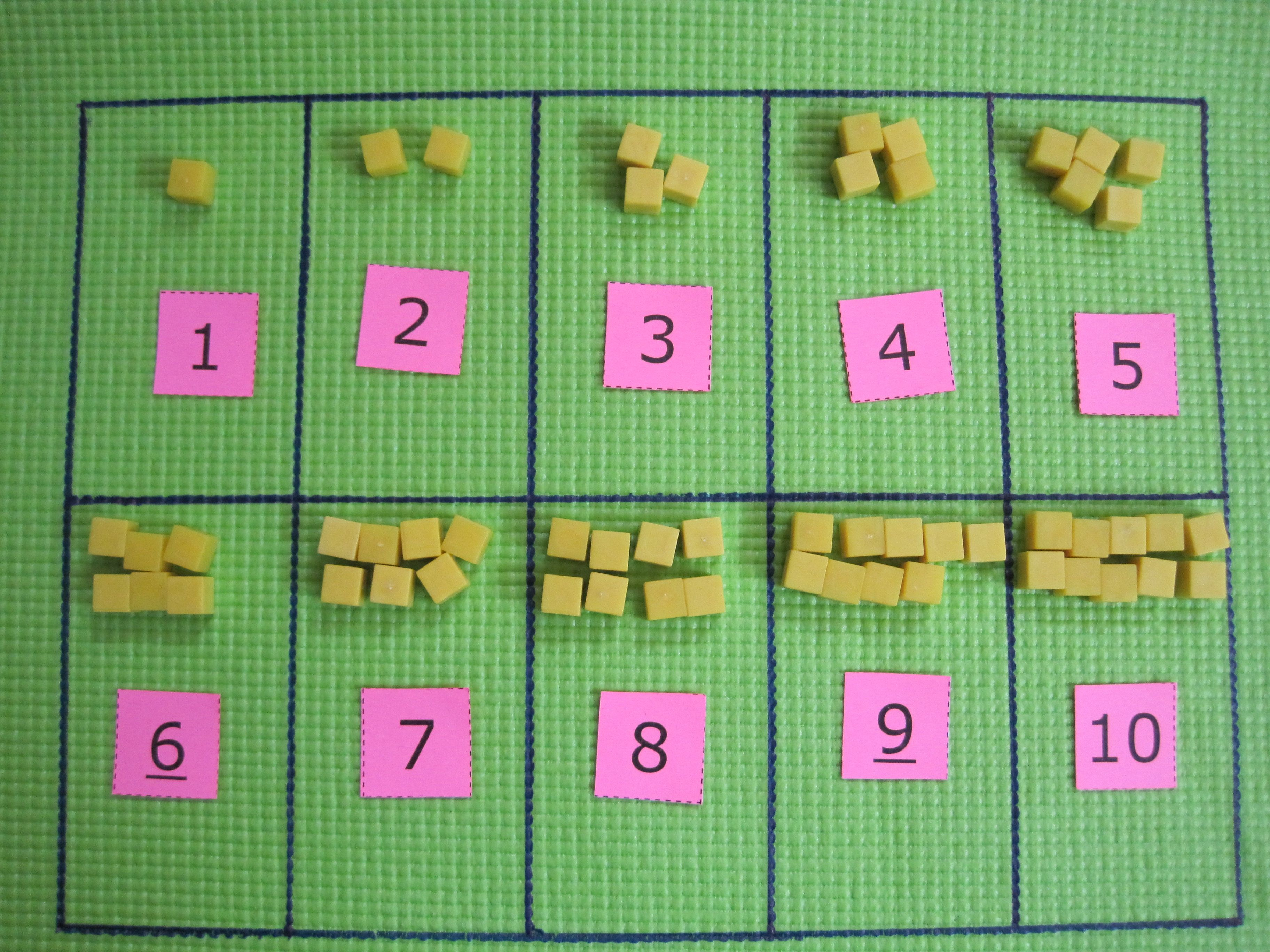 Matching Numbers With Appropriate Amount Of Objects Is