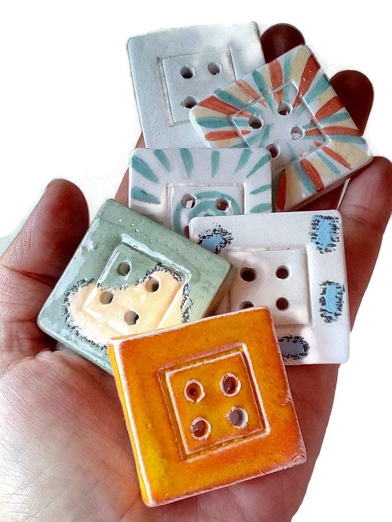 Ceramic square button, sewing button, four hole button