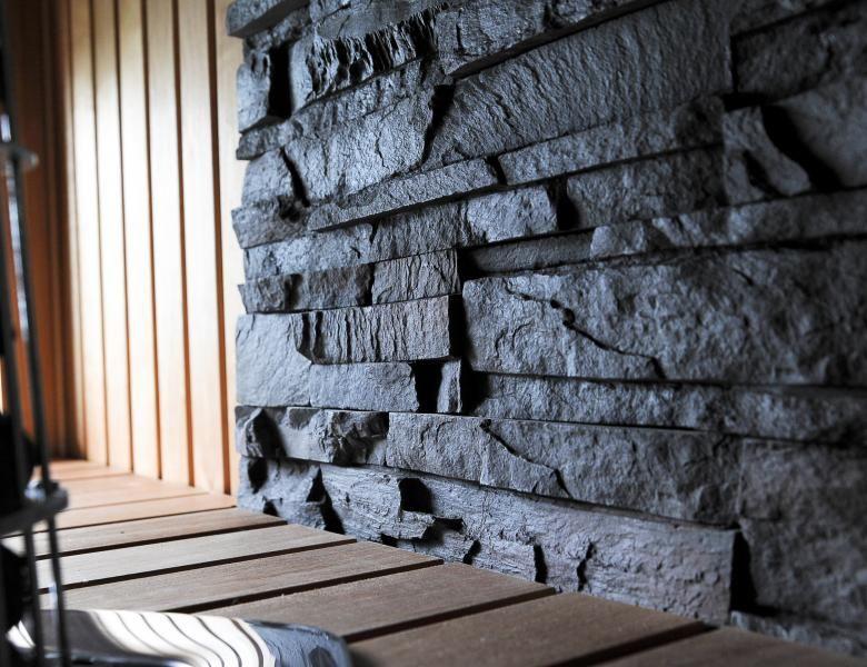 Naturstenar bastu kiviseina sauna Aveo Vaasa