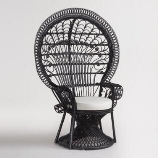 black wicker peacock chair | real house | pinterest | peacock