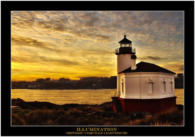 I have always liked lighthouses but never lived near one.  Now, living in Oregon, it is one of my favorite places to go. Historic Coquille River Lighthouse, Oregon at sunrise - Photographer: Rachelle Crockett