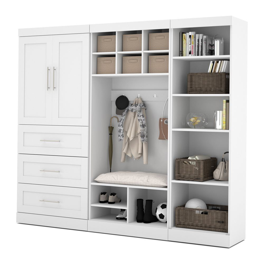 Shop Bestar 26855 Pur by 97-in Mudroom Kit at Lowe's Canada. Find ...