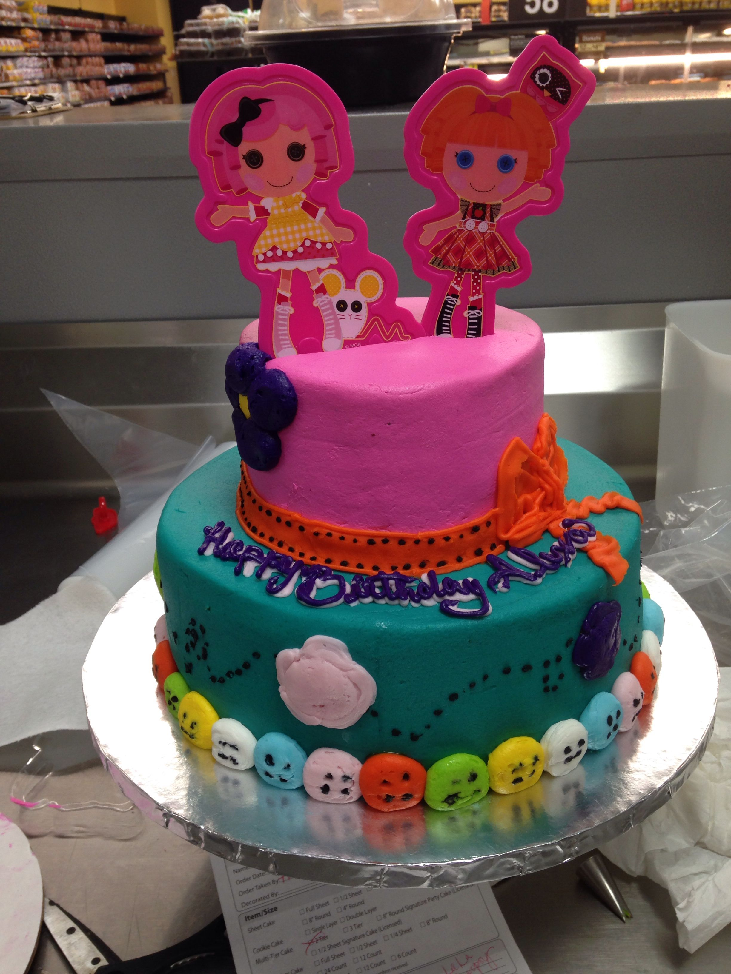 Two Tier Buttercream Cake Walmart Lala Loopsy Special Order Custom