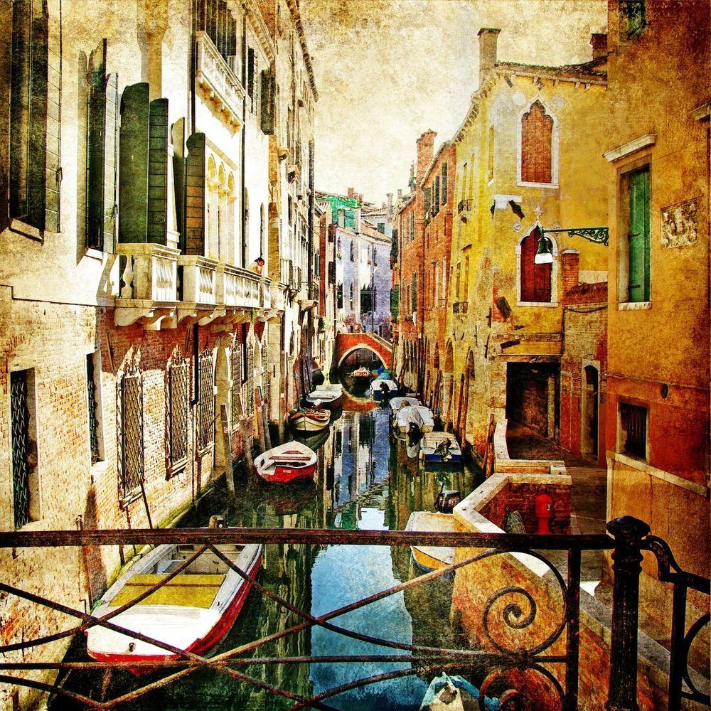 VINTAGE 20 Lunch Paper Napkins DECOUPAGE VENICE ITALY GONDOLA / D