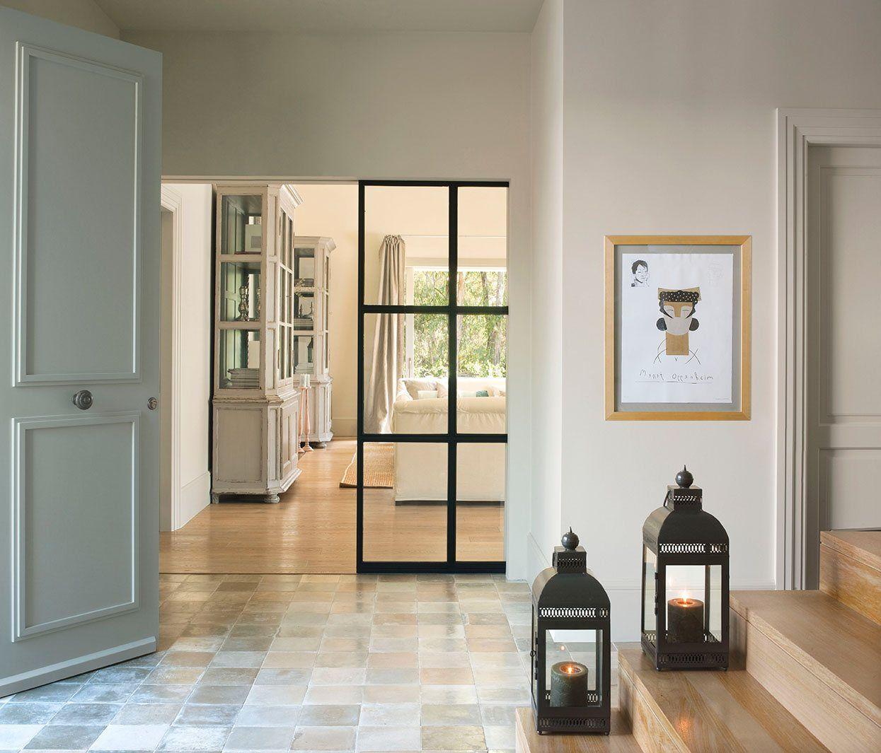 Puertas Correderas Para Dar Amplitud Al Salon Buscar Con Google  ~ Cristales Para Puertas De Salon