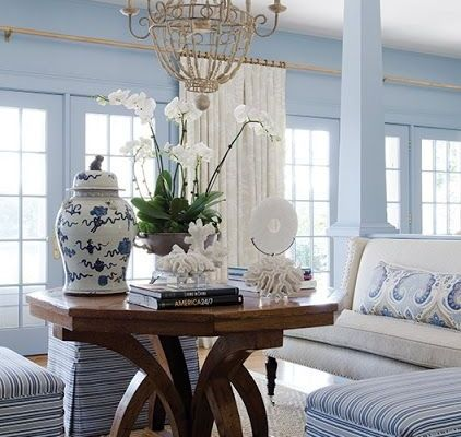 color blue and white new englan home