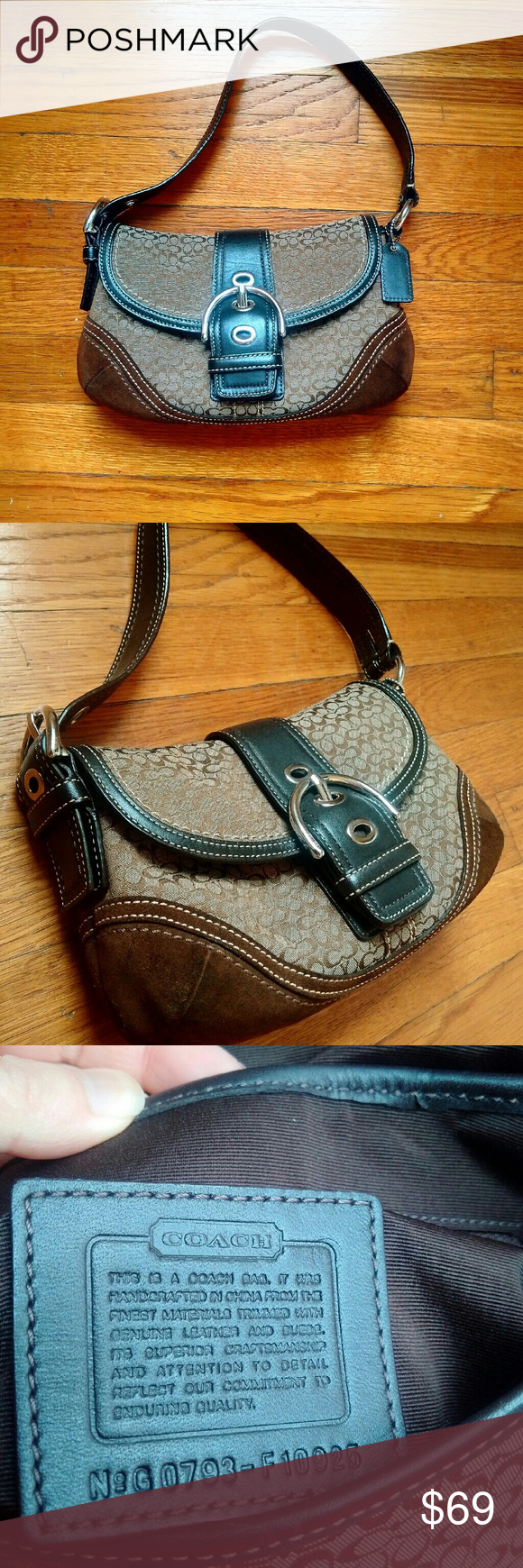 Coach Handbag Lightly used Immaculate condition Classic Coach print Quality beats today's Coach (imo!) Coach Bags Shoulder Bags