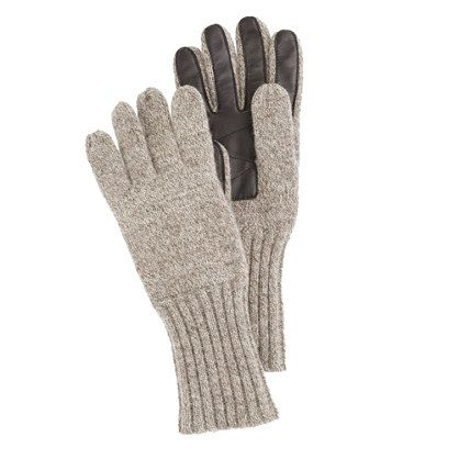 6b7d828e583 Mens Wool gloves with TouchTec® palm patch from J. Crew