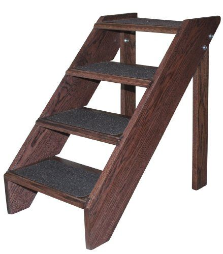 Best Premier Pet Steps Tall Open Riser Steps Solid Oak Tread 400 x 300