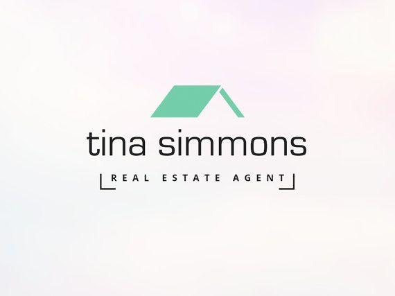 Real Estate Agent Logo With Roof Image Instant Download Premade Real Estate Logo Design And Temp Real Estate Logo Design Real Estate Logo City Logos Design