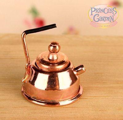 1:12 Dollhouse Miniature Furniture Accessories Kitchen Golden Teapot Kettle \